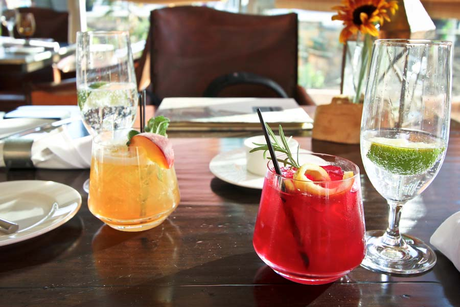 Cocktails from The Farm at Canyons Resort