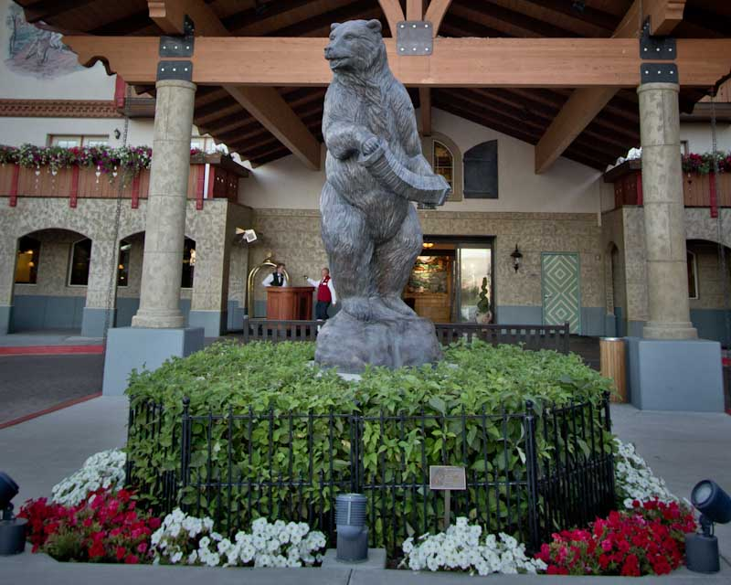 Zermatt Resort Bear at Entrance