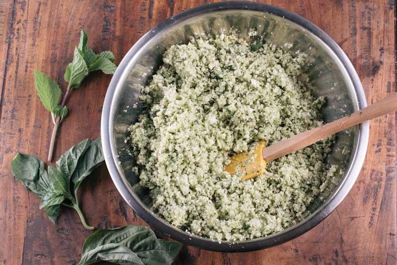 Cauliflower Couscous Greek Salad Recipe