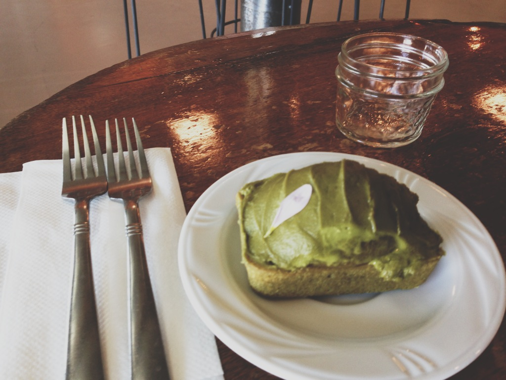 Matcha Pound Cake at Tea Grotto in Salt Lake City