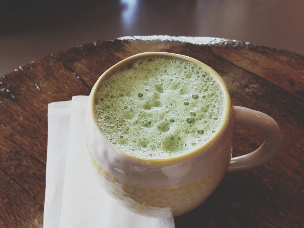 Matcha Latte at Tea Grotto in Salt Lake City